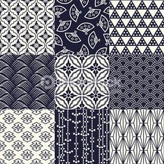 Illustration of seamless japanese traditional mesh pattern vector art, clipart and stock vectors. Japanese Textiles, Japanese Fabric, Japanese Prints, Japanese Design, Japanese Art, Japanese Embroidery, Traditional Japanese, Motif Kimono, Kimono Pattern