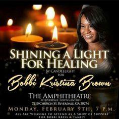Bobbi Kristina Brown Update: Candlelight Vigil to be Held as Family Encourages People to ''Keep Praying''  Bobbi Kristina Vigil