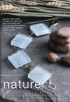 ❥ Natural materials in resin