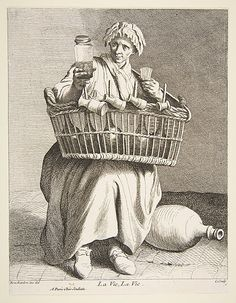 Brandy Seller, Paris, 1737, Anne Claude Philippe de Tubières, Comte de Caylus  (French, Paris 1692–1765 Paris)