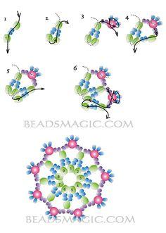Free pattern for earrings Antarctica - 2