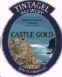 'Castle Gold': beer from Tintagel Brewery in North Cornwall.