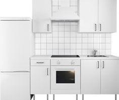 Eine flexible Küche mit FYNDIG Modulelementen weiss/weiss, Regal ... | {Ikea küchenzeile fyndig 22}