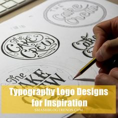 Typography Logo Designs for Inspiration1.1. Wow, there are some really amazing ideas!!
