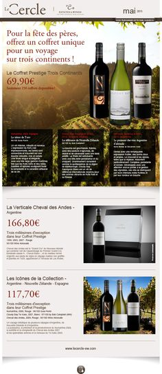 Le Cercle - Estate & Wines newsletter de mai 2013 Création FAT4