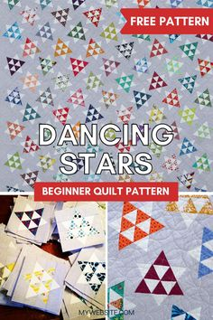 This popular FREE pattern is made by piecing small triangles to make adorable star blocks. It is a great way to use up fabric scraps and a perfect quilt pattern for paper-piecing beginners. There are multiple size options to choose from.
