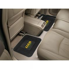 """Alabama Birmingham Blazers NCAA Utility Mat (14x17)(2 Pack). """"Boast your team colors with backseat utility mats by FANMATS. High quality and durable rubber construction with your favorite team's logo permanently molded in the center.  Non-skid backing ensures a rugged and safe product.  Due to its versatile design utility mats can be used as automotive rear floor mats for cars, trucks, and SUVs, door mats, or workbench mats.  Now comes in a 2 Pack!"""" Availability: Usually ships within 2-3…"""