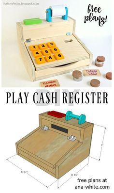 diy wood kids play cash register free plans