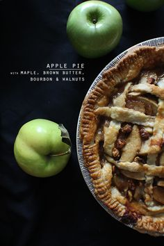 Maple, brown butter & bourbon apple pie... with walnuts.   Cupcake Rehab
