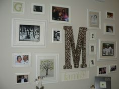 collage picture frames for wall | The Creative Chickadee: Family Collage Wall