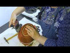 ZARDOSI DOUBLE COLOURED PADDED LOAD STITCH TUTORIAL   Zardosi padded zigzag stitch   Zardosi work - YouTube