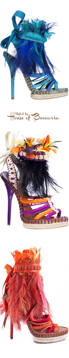 ~Dior Tahiti Feather Sandals SS 2011 | House of Beccaria