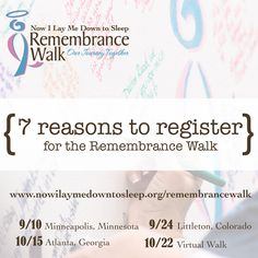 7 Reasons to register for the NILMDTS Remembrance Walk  http://nilmdtsremembrance.org/7reasonstoregister/