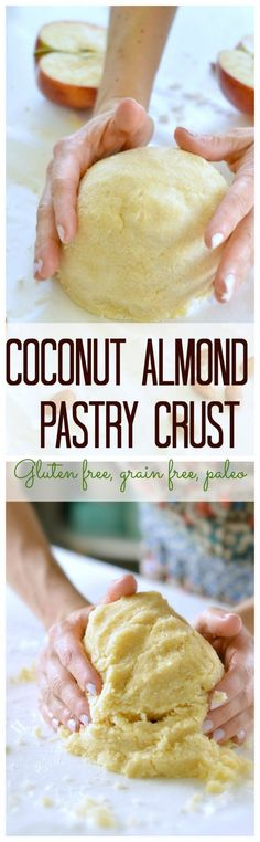 I love making this healthy coconut pastry crust for any sweet pie. Crispy, sweet, clean. A great gluten free pastry curst, paleo pie crust too! #grainfree