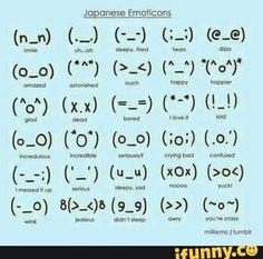 japanese, emoticons
