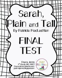 Sarah, Plain and Tall Final Test