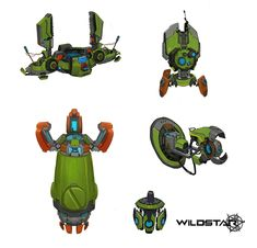 "ArtStation - More Wildstar props!, daniel ""red"" stultz"