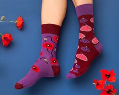 1ef501a633cdb Crazy Fig & Poppy Seed mismatched socks | men socks | colorful socks | cool  socks