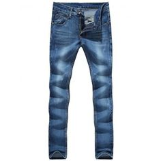 SHARE & Get it FREE | Zipper Fly Cat's Whisker Bleach Wash Embroidered Narrow Feet Slimming Men's JeansFor Fashion Lovers only:80,000+ Items·FREE SHIPPING Join Dresslily: Get YOUR $50 NOW!