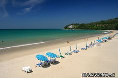 Phuket -Tranquil and calm, the pretty white sands of Kamala beckon most people by day, but if you're seeking more than sunbathing on a perfect beach, there are other options such as snorkeling at the north end of the beach. There aren't any waves from November to April (NE