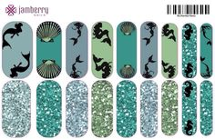 Little Mermaid (2) inspired Jamberry Nail Wraps | contact 3jamgirls@sbcglobal.net to order.