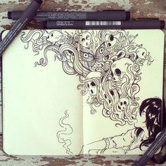 Un ilustrador cuelga cada día del año un increíble doodle en deviantART