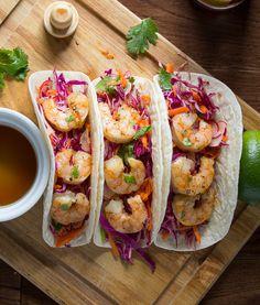 Chipotle Lemongrass Maple Shrimp Tacos | sweetpeasandsaffron.com @sweetpeasaffron