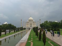 The Taj Mahal and the weather! Priceless!
