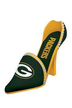 NFL Packers Decorative Team Shoe Wine Bottle Holder; Regular $50.00, Sale $32.00