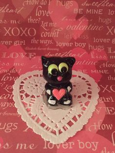 Kitty cat polymer clay ornament decoration cake topper charm figure figurine miniature sculpture petlover gift wedding birthday holiday by CatsClayandMore on Etsy https://www.etsy.com/listing/252362433/kitty-cat-polymer-clay-ornament