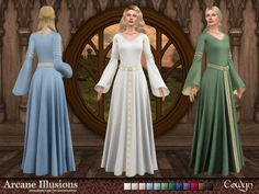 Sims 4, Die Sims, Anastasia Dress, Kate Dress, Fantasy Dress, Bridesmaid Dresses, Wedding Dresses, Wool Dress, Casual Wear