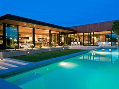 Warm Luxury Home on Sunset Strip [ Barndoorhardware.com ] #modern #hardware #slidingdoor