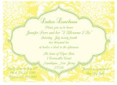 Yellow Floral Invitations by GBPdesigns on Etsy, $15.00