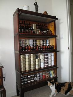Private tobacco and pipe cellar. Someday I will have this!