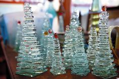 Rose Mary's Clay: Glass Christmas Trees ... A New Paperweight!!