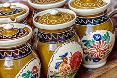 Keramische potten, traditioneel voor Corund Gebied Roemenië Stockfoto - 22664671