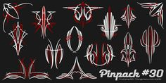 Pinpack #30 - New Set of Pinstriping Vectors