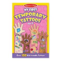 Melissa  Doug My First Temporary Tattoos 100 KidFriendly Tattoos  Rainbows Fairies Flowers and More ** See this great product. Note:It is Affiliate Link to Amazon.