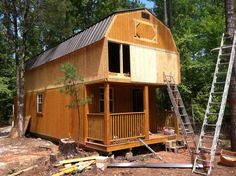 Our tiny house in the making. Our tiny house in the making. Shed To Tiny House, Tiny House Nation, Tiny House Living, Tiny House Plans, Tiny House Design, Tiny House On Wheels, Cabana, Log Homes, Tiny Homes