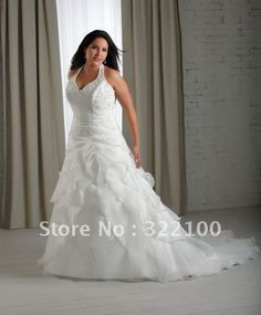 Free shipping LP1015 halter corset wedding dresses for plus size women-in Wedding Dresses from Apparel  Accessories on Aliexpress.com