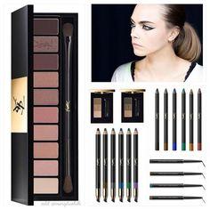 новая коллекция для макияжа глаз от YSL включает в себя палетку теней, цветные карандаши для глаз, водостойкие карандаши, палетки для бровей и подводки #yslbeauty #yslmakeup