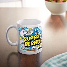 Becher & Tassen - Comic Tasse Superheld - Personalisiert - bedruckt - ein Designerstück von LPZ bei DaWanda