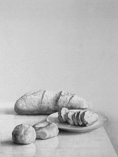 Claudio Bravo, Bread, 1995      Lithograph      30 x 22 inches