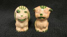 Vintage Tlaquepaque Mexican Pottery Dog and Cat Salt & Pepper Shakers
