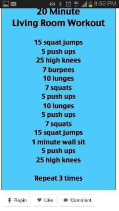 Living room workout! A