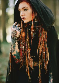 Hair Wrap Discover Crop Top Hoodie with Cape Sleeves Elven Forest Festival Clothing Crop Top Hoodie, Forest Festival, Beautiful Dreadlocks, Dreads Girl, Tank Top Dress, Halloween Disfraces, Festival Outfits, Festival Clothing, Grunge Hair