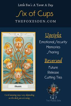 Tarot Card Meanings, Major Arcana, Tarot Decks, Learn To Read, Tarot Cards, Booklet, Meant To Be, Cups, Memories