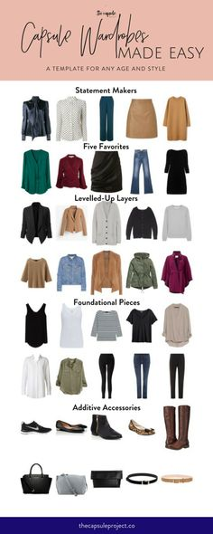 Capsule Wardrobe Template for All Ages & Styles - The Capsule Project