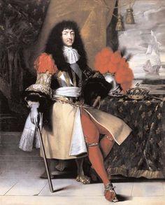 Portrait en pied de Louis XIV (1638-1715), roi de France et de Navarre, d'après Claude Lefebvre, vers 1670