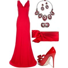 Valentino & Cartier, created by nuria-pellisa-salvado on Polyvore  This shade of red is amazing!